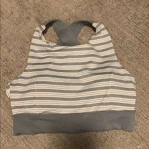 Athleta striped bra